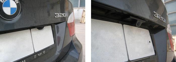 Камера заднего вида для BMW фото установлена