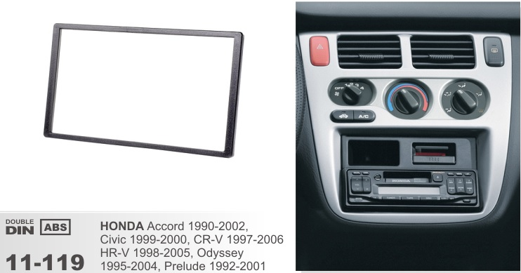 Рамка переходная 2din Honda Accord 1990-2002