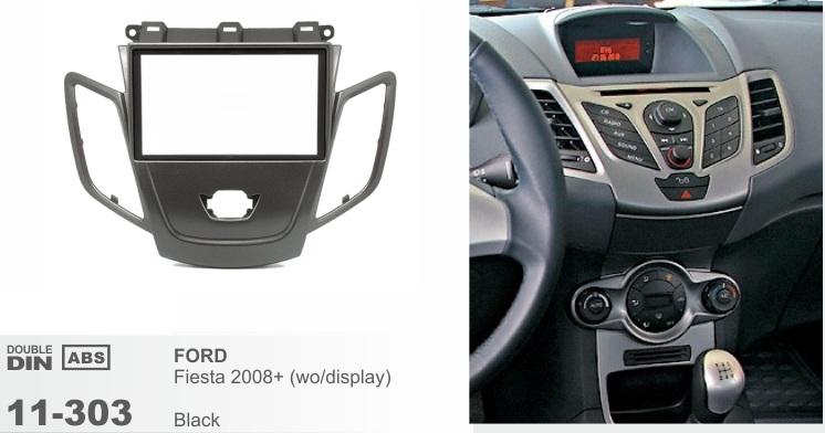 Рамка переходная 2din Ford Fiesta 2008+ (без штатного дисплея)