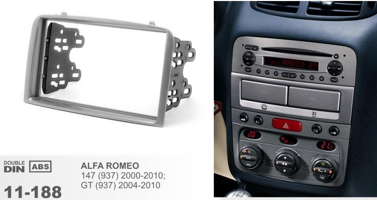 Рамка переходная 2din для Alfa Romeo 147 2005-2011