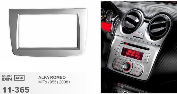 Рамка переходная 2din для Alfa Romeo MITO 2008