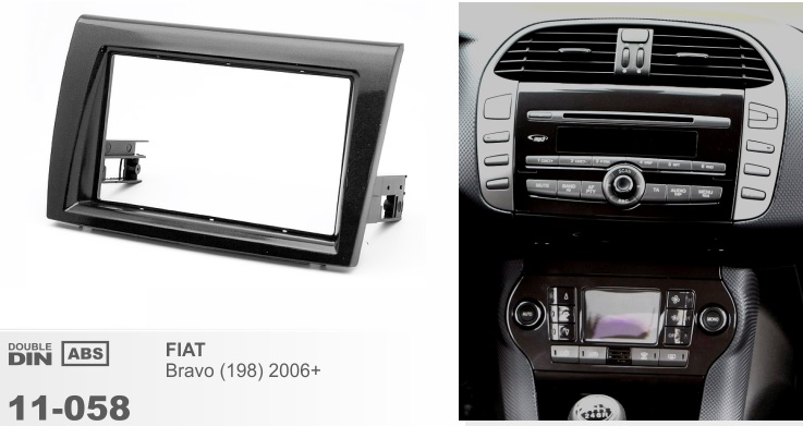 Рамка переходная 2din Fiat Bravo II 2006+
