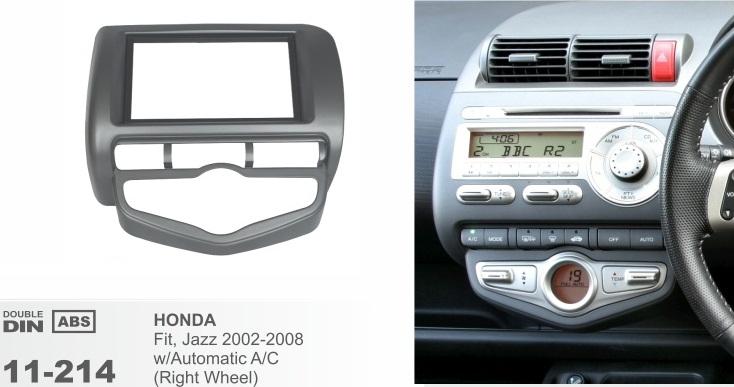 фото рамка переходная 2 дин для Хонда фит джаз с климатом