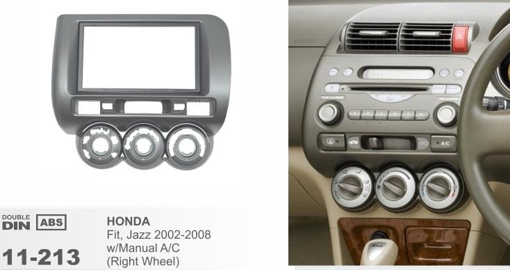 фото рамка переходная 2 дин для Хонда Фит Джаз