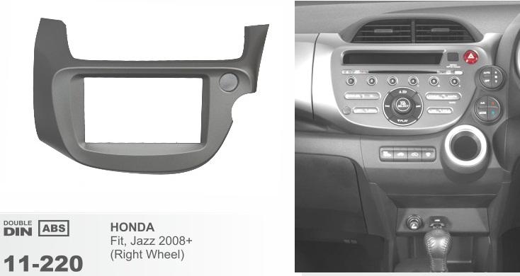 фото рамка переходная 2 дин для Хонда фит джаз 2009