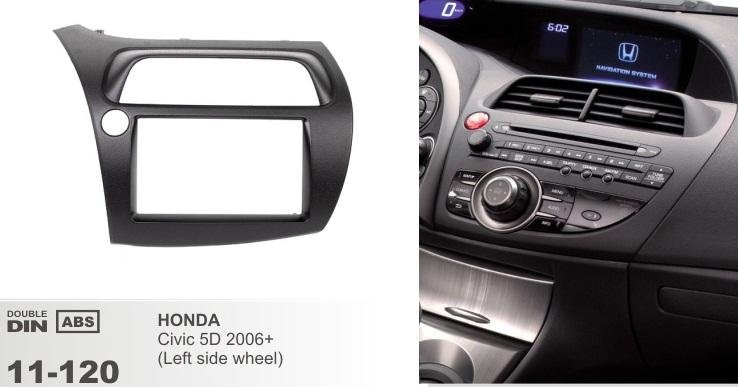 фото рамка переходная 2 дин для Хонда цивик 5д