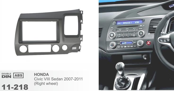 фото рамка переходная 2 дин для Хонда цивик 2007