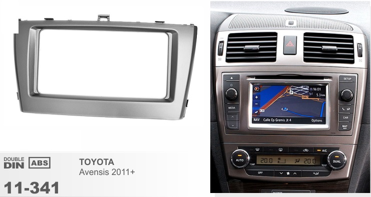 Рамка переходная 2din Toyota Avensis 12+